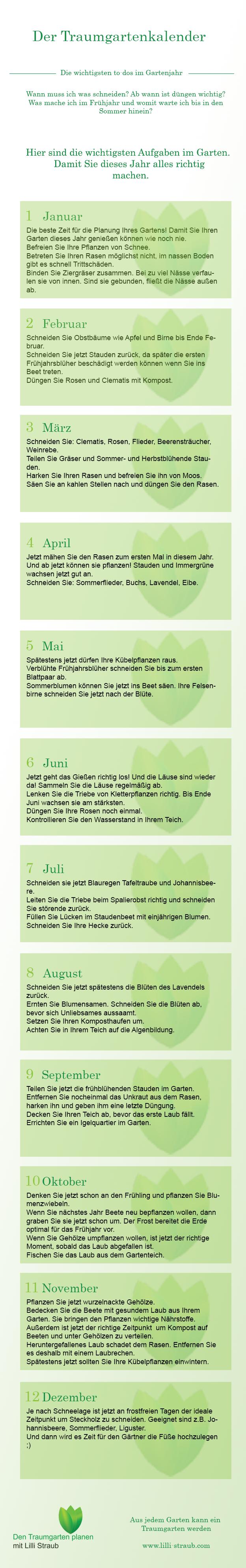traumgarten - kalender